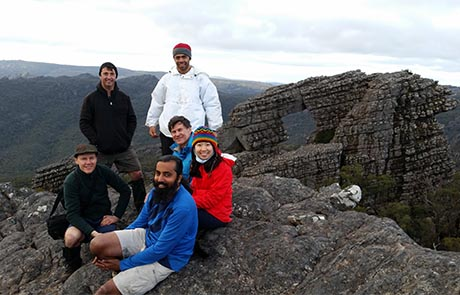 Smiles after a hard day at the Arch, Grampians