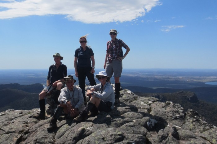 The team on Mt Rosea