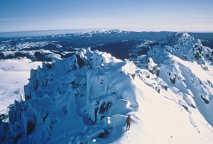 Peter in summit ridge looking north