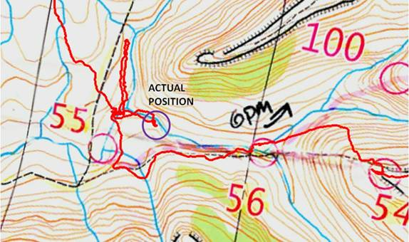 Rogaining map