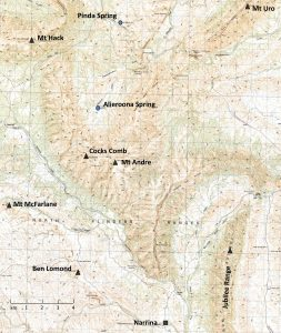 Location map of Mount Andre