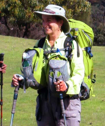 Lorraine Thomas with her Aarn Pack