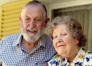 Warren Bonython with his beloved wife, Bunty