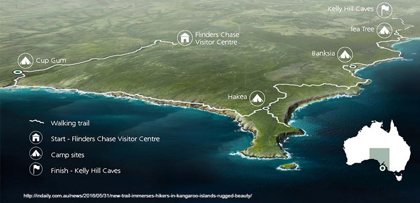 Map Of Australia Kangaroo Island.Kangaroo Island Wilderness Trail Adelaide Bushwalkers